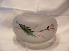 vase en verre boule émaillé à décor de fleur