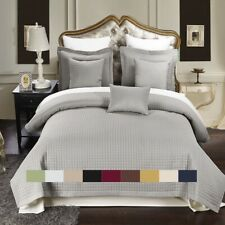 Checkered Style Soft and Plush Coverlet 2-3PC Set Bedspread Extra Soft Bed Cover