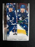 2020-21 Upper Deck #450 Auston Matthews Elias Pettersson Checklist Maple Leafs