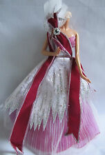 2005 HOLIDAY BARBIE FUCHSIA DRESS AND SHOES ONLY NEVER DISPLAYED