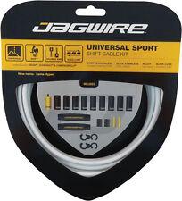 JAGWIRE UNIVERSAL SPORT WHITE MTB SHIFT DERAILLIEUR CABLE KIT