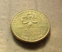 AUSTRALIA DECIMAL... 2010 GIRL GUIDE  $1.00 DOLLAR COIN....