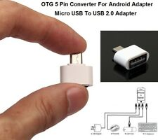 Micro USB 5 Pin Macho a Hembra USB Host OTG Adaptador Android Teléfono Tablet PC PDA