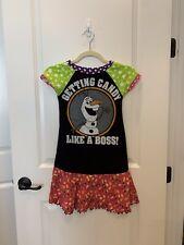 Custom Disney Olaf Halloween Girls Tee Shirt DRESS FITS Sz 7 8 EUC