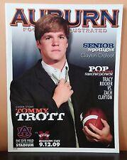 2009 Auburn vs. Miss.State College Football Game Program