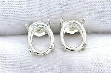 7x5 7mm x 5mm Oval Sterling Silver Faceted Gemstone Gem Stone Earring Mounting