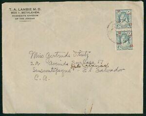 Mayfairstamps Jordan 1930s to El Salvador Commercial Cover wwo88805