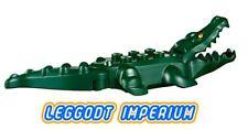 LEGO Minifigure Animal - Dark Green Alligator / Crocodile yellow eyes FREE POST