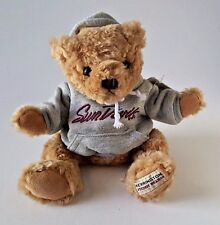 "ARIZONA STATE SUNDEVILS STUFFED PLUSH TEDDY BEAR W/ GRAY HOODIE 10"" HERRINGTON"