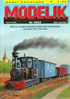 ORIGINAL PAPER-CARD MODEL KIT - WILANOWSKA RAILWAY NARROW GAUGE TRAIN
