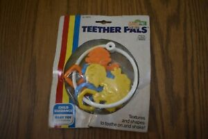 Vintage 1979 Sesame Street, Teether Pals, Baby Ring Rattle Toy NEW OLD STOCK