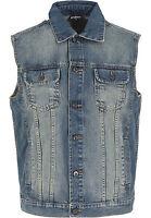 URBAN CLASSICS Gilet Giacca Giubbotto jeans uomo Denim Vest Size 4XL