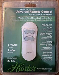 Hunter Ceiling Fan Universal Remote Control 27157