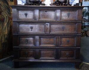 Oak William & Mary chest, C. 1690