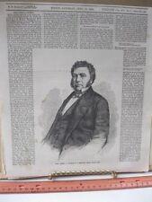 Vintage Print,JAMES A PEARCE,Ballous,Boston,April 1859,Homer