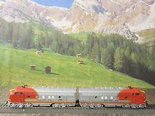 Märklin HO  Digitale US Diesellok 33622+4060 EMD F7 Santa Fe Neuwertig .  OVP