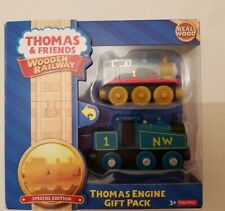 Thomas The Tank & Friends THOMAS ENGINE GIFT PACK WOODEN TRAIN WOOD NEW IN BOX