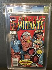 The New Mutants #87 CGC 9.8 First Appearance Cable Newsstand Variant Barcode UPC