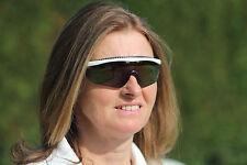 OBG White Sport Sunglasses UV400 Smoke Mirror Lens Tennis Golf Leisure FREE P&P