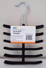 Honey Can Do 2-pack Velvet Touch Tie & Belt Hanger HNG-01955 Black