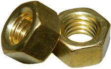 Solid Brass Machine Screw Hex Nuts 516 18 Qty 25