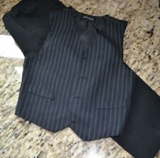 Formal Wear Vest and Pants Youth Boys size 4 Regular Black