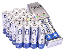 24x AA 3000mAh 1.2 V Ni-MH rechargeable battery BTY cell for Toys Camera uk