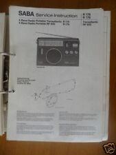 service-instruction Saba Transatlantic Radio, Original