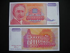 YUGOSLAVIA  50000000 Dinara 1993  (P133)  UNC