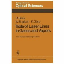 Table of Laser Lines in Gases and Vapors 2 by W. Englisch, K. Gürs and R....
