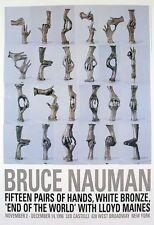 Fifteen Pairs of Hands - Bruce Nauman Art Print Offset Lithograph Poster 36.5x25