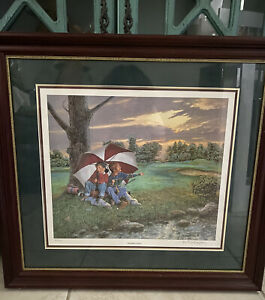 """R.A. FINLAYSON , Golfing Artist: """" WAITING IT OUT """"Mint Condition 62/750."""