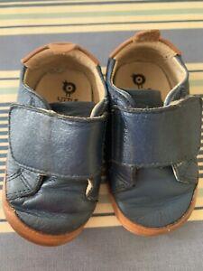Old Soles Baby Boys Navy Blue Leather Shoes - Size 4 AU 21EU