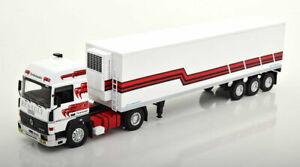 IXO MODELS 1/43 RENAULT R370 TURBOLEADER WEISS/ROT CAMION TRUCK TRAILER DIECAST