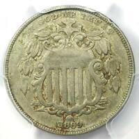 1869 RPD Shield Nickel 5C Coin FS-1306 - PCGS XF Details - Rare Variety!