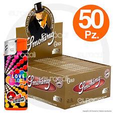 Cartine SMOKING ORO LUNGHE GOLD slim 50 pz King Size kingsize 1 box scatola