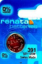 391 RENATA SR1120W WATCH BATTERY SR1120 V391 New packaging Authorized Seller