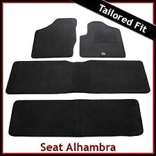 Seat Alhambra Mk1 1996-2010 Fully Tailored Fitted Carpet Car Floor Mats BLACK