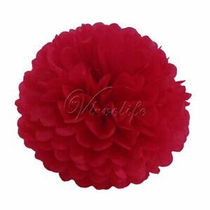 """DIY Tissue Paper Pom Poms Flower Kissing Ball Props for Wedding 6"""" 8"""" 10"""" 15"""""""