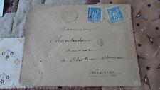 Enveloppe 2 x Sage 15c YT 90 - de Rémilly à Château Chinon (CAD A2) - 1887