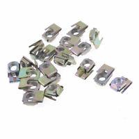 Car Bronze Tone Metal Screw Base Fastener Clamp Clip 7mm Dia x 20