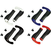 Mountain Bike Handle Bar Grips Double Lock On MTB BMX Bicycle Cycle + Ends