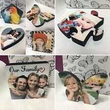MDF Personalised 3D Photo Block. Freestanding Photo Frame, Contemporary, Glossy