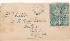 Singapore stamp cover 1908 Straits settlements 92 neil road post office  HPS2