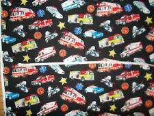 Nurses uniform scrub top xs sm med lg xl 2x 3x 4x 5x FIRETRUCK EMERGENCY VEHICLE