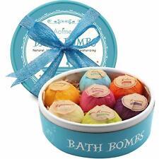 Aofmee bombes de bain Cadeau Lot de 7pcs Lush Fizzies Spa kit Idéal