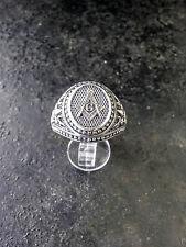 MASONIC SILVER 925 RING Mens Masonic Ring Handmade Freemasonry Fleur-de-lis Ring