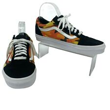 Vans Skate Shoes Mens Size 7 Orange Camouflage Low Top Lace Up Old Skool Sneaker
