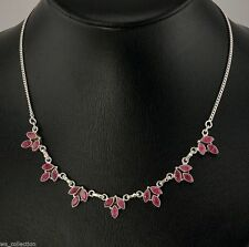 Echte Edelstein-Halsketten & -Anhänger im Collier-Stil mit Rubin für Damen