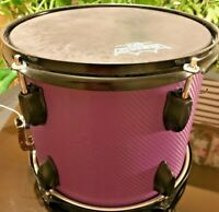 "10"" x 9""-5 Lug-Purple & Black Carbon Fiber-Basswood-Popcorn Snare Drum"